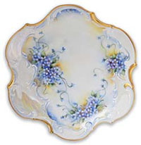 Forget-me-not plate by Anne Blake