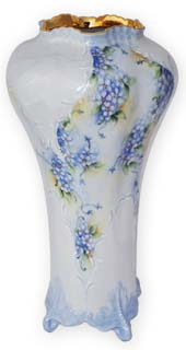 Forget-me-not Dresden vase by Anne Blake